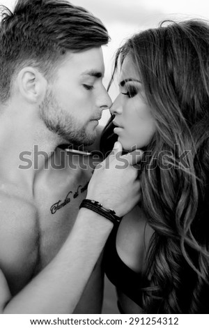 Sexy love kissing