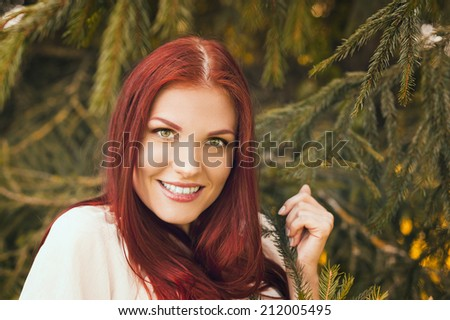 closeup portrait young sensual woman fir stock photo royalty free