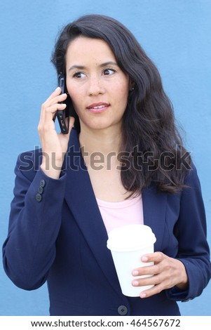 Close up portrait upset sad, skeptical, unhappy, serious woman gossiping on phone. Negative human emotion facial expression feeling, life reaction