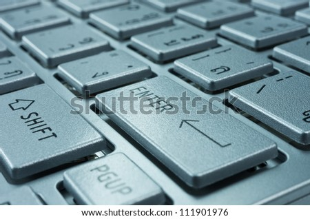 Close up Position the keyboard ENTER, business concept - stock photo