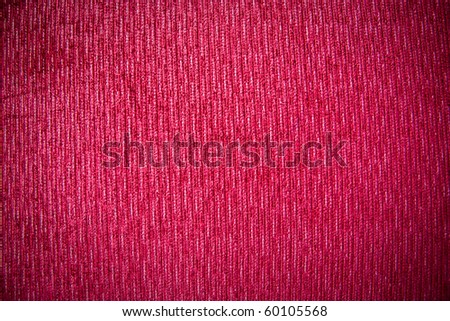 Close-up red fabric texture background - stock photo