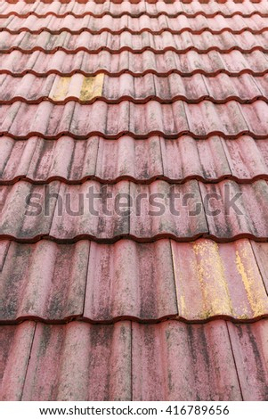 close up red roof tiles,pattern photo