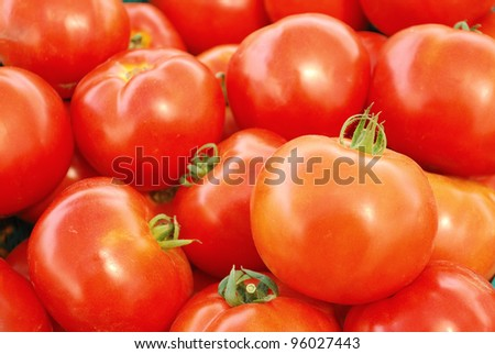 Close up red tomato - stock photo