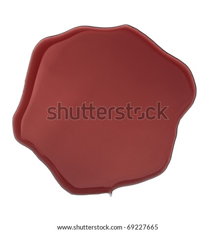 close up red wine stains on white background - stock photo