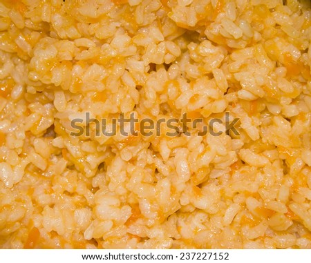 close-up rice porridge texture - stock photo