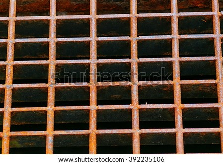 Close up Rust steel grating  - stock photo