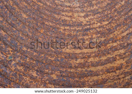 Close up rusty on metal manhole cover - stock photo