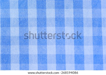 Close up scotch blue and wite textile background