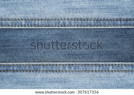 Close up Seam Jeans abstract texture background - stock photo