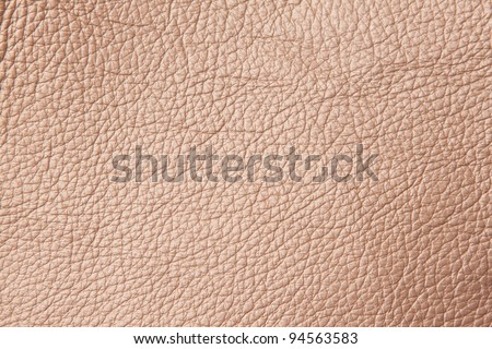 Close up shiny brown leather pattern - stock photo