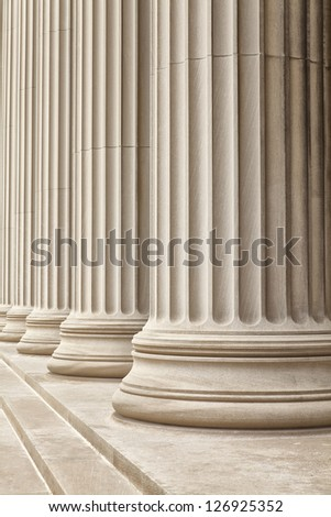 Close-up shot of a line of Gerek-style columns.