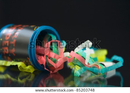 Close up shot of a Party Popper - stock photo