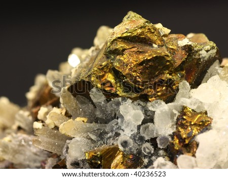 Close up shot of a pyrite - stock photo