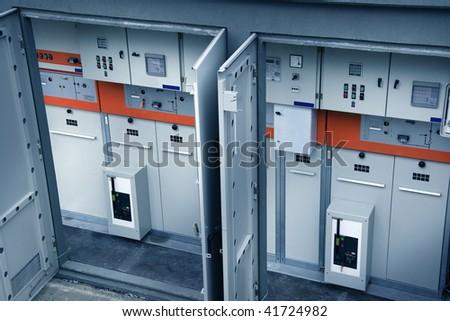 close up shot of a transformer's inside - stock photo