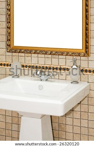 Close up shot of antique style bath sink - stock photo
