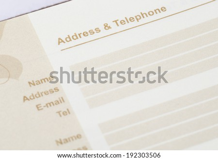 close up shot of brown address book - stock photo