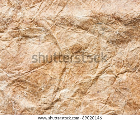 Close up shot of brown grunge paper texture