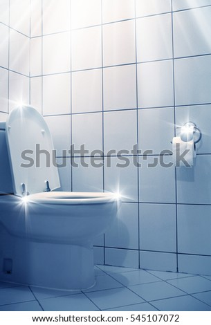 close up shot of clean bathroom