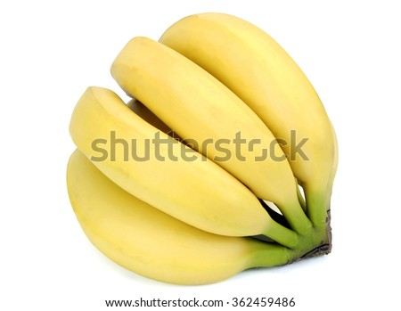 Close up shot of fresh delicious banana bunch/ Eat A Banana Or Two - stock photo