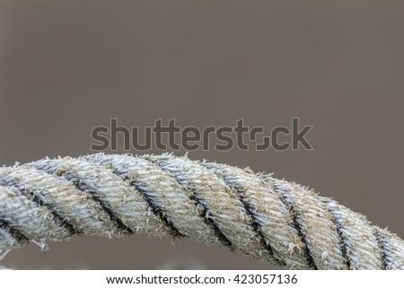 Close-up shot of rope. - stock photo