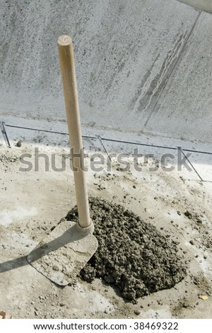 Close up shot of some cement in a construction site.