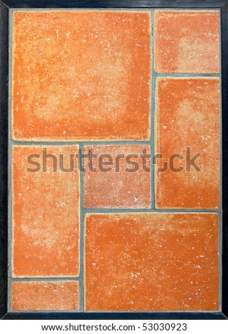 close up shot of terracotta tiles in geometric formation