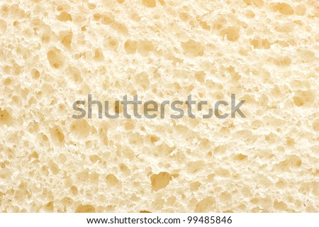 close up shot of white bread slice - stock photo