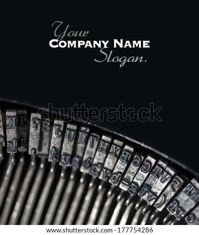 Close up shot on an old typewriting machine - stock photo