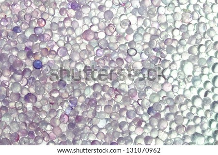 close-up silica gel - stock photo