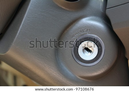 close up Slot car keys. - stock photo