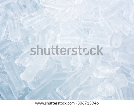 Close up small ice cube for pattern and background - stock photo