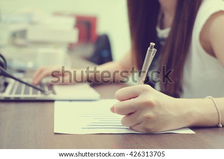 Paper to write on the computer