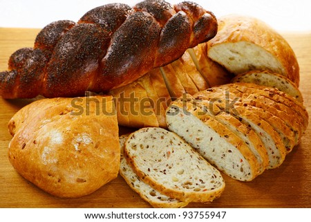 Close up some fresh bread - stock photo
