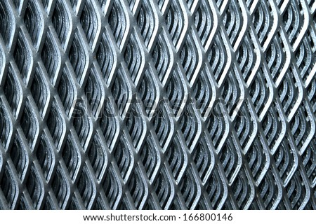 Close-up steel grating - stock photo