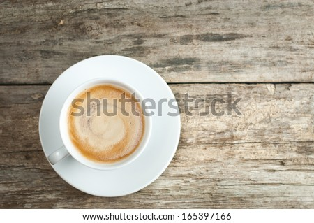 Close up still life of hot coffee drink  - stock photo