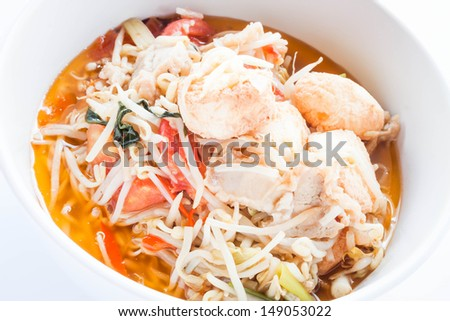 Close up stir fry bean sprout with tofu, stock photo