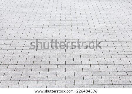 Close - up street cement block floor background   - stock photo