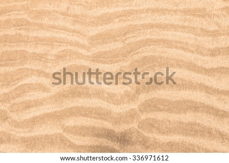 close up surface the beach sand packed curve background - stock photo