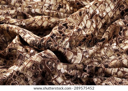 close-up texture crumpled fabric spotty colors studio - stock photo