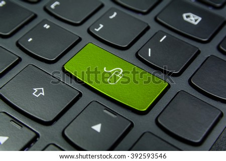 Close-up the Mouse symbol on the keyboard button and have Lime color button isolate black keyboard