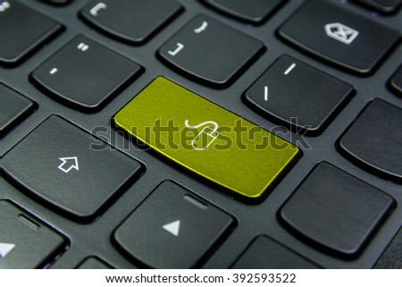 Close-up the Mouse symbol on the keyboard button and have Yellow color button isolate black keyboard