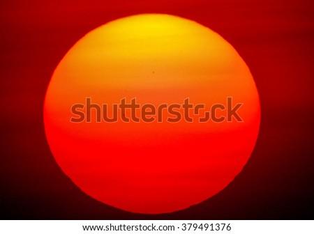 close up the Sun  - stock photo