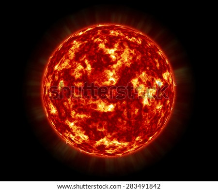 close up the sun in space
