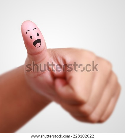 close up thumb up - stock photo