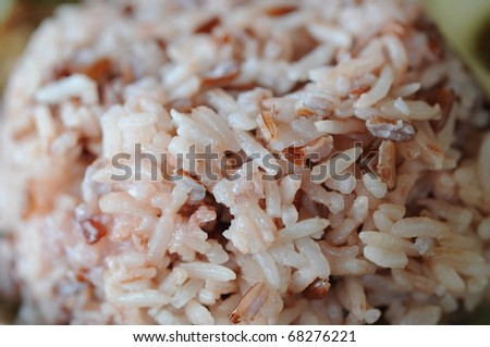 close up to brown rice - stock photo