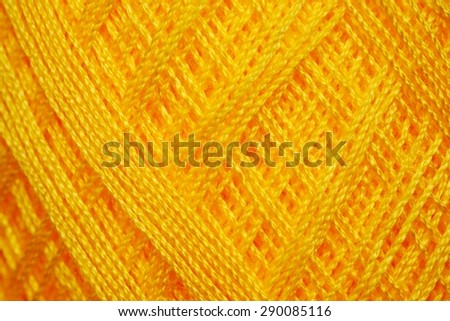 Close up to wool knitting, Colorful yarn and crochet work. - stock photo