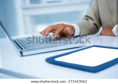 Close up view of a businessman desk