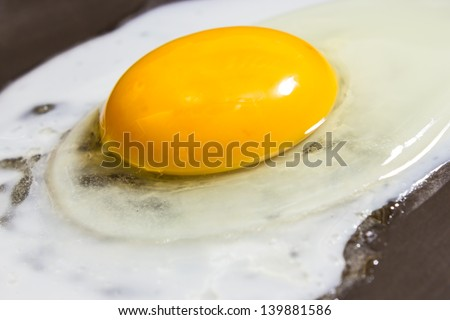 Close up view of a fried egg