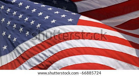 Close-up view of an US-american flag 02 - stock photo
