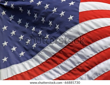 Close-up view of an US-american flag 01 - stock photo